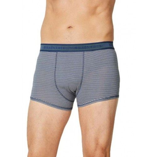 Bamboe boxers blauw grijs gestreept Created by Earth