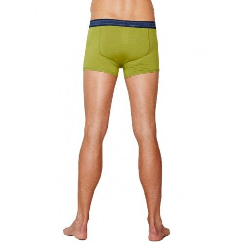 Bamboe boxers olijf groen achterkant Created by Earth