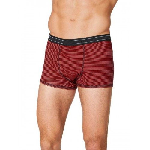 Bamboe boxers roest rood gestreept Created by Earth