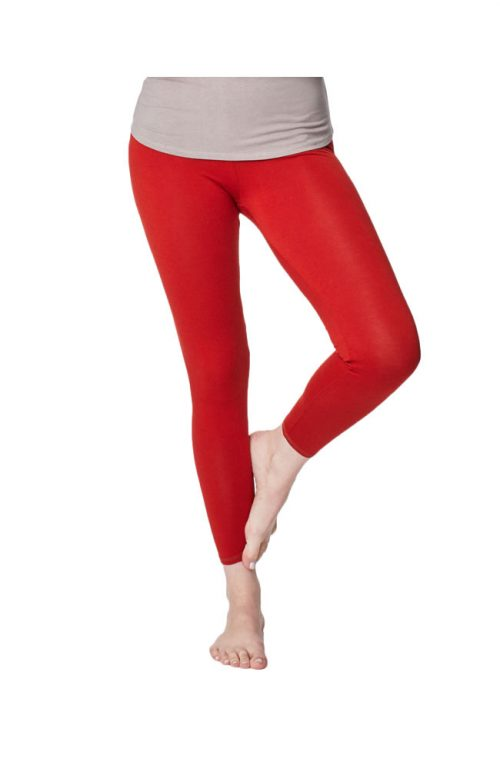 Bamboe leggings rood Created by Earth