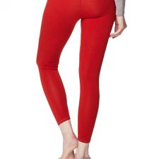 Bamboe leggings rood achterkant Created by Earth