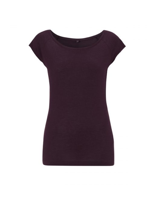 Bamboe top aubergine Created by Earth