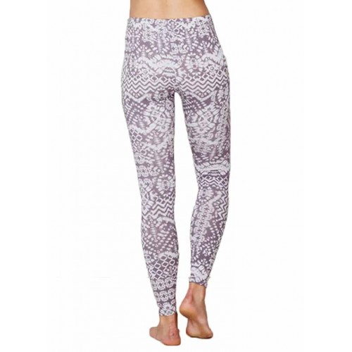 Bamboe leggings dye patch achterkant Created by Earth