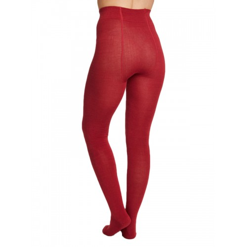 Bamboe maillot warm rood achterkant Created by Earth