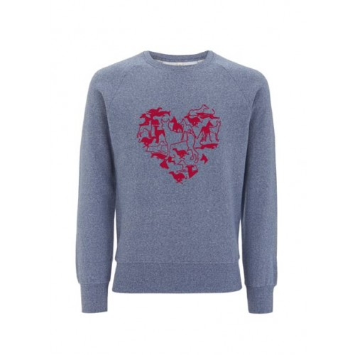 Biologische sweater Dogs in my heart Created by Earth