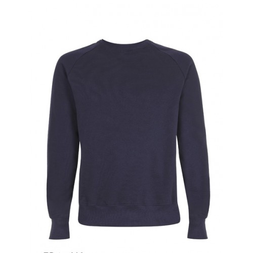 Biologische sweater blauw Created by Earth