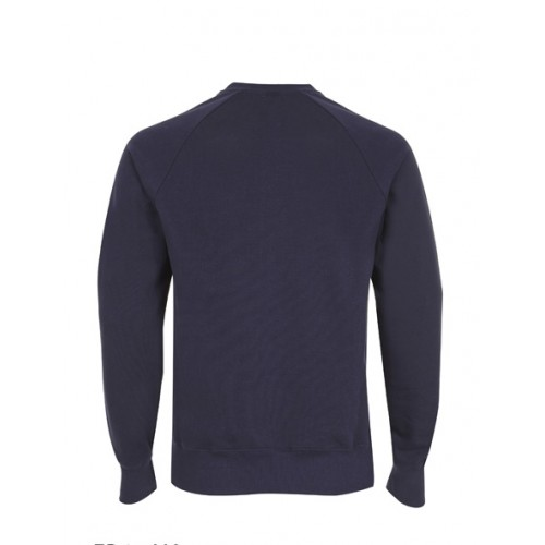 Biologische sweater blauw achterkant Created by Earth