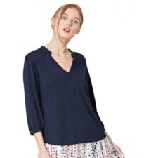 Bamboe blouse blauw Created by Earth