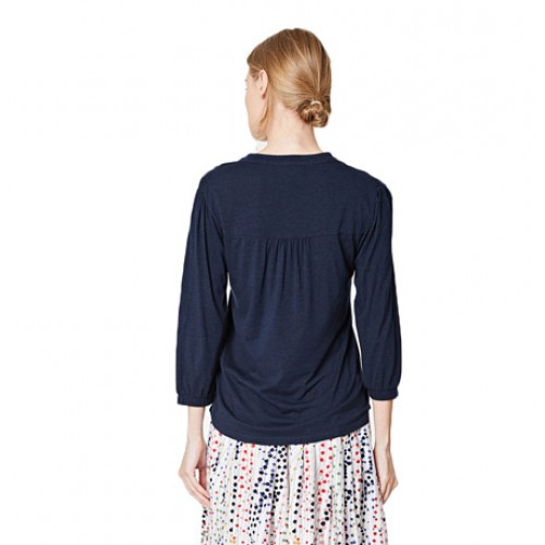 Bamboe blouse mnavy blauw Created by Earth
