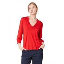 Bamboe blouse rood Created by Earth