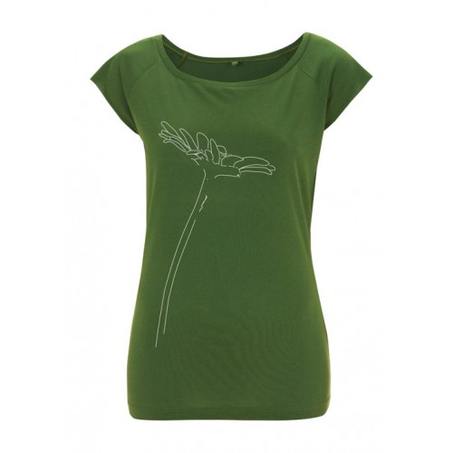 Bamboe top Madelief groen Created by Earth