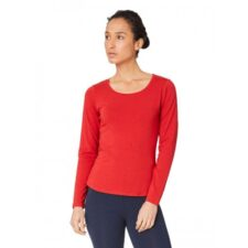 Bamboe top lange mouwen rood Created by Earth