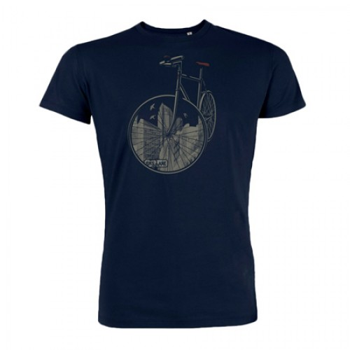 Biologisch T-shirt CityBike blauw Created by Earth