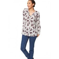 Biologische blouse aubergine Created by Earth