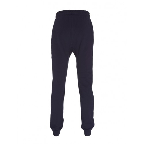 Biologische sweat pants uni blauw back Created by Earth